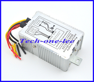 1pc 24V to 12V DC-DC Car Power Supply Inverter Converter Conversion Device 30A Negative Booster Free Shipping(China (Mainland))