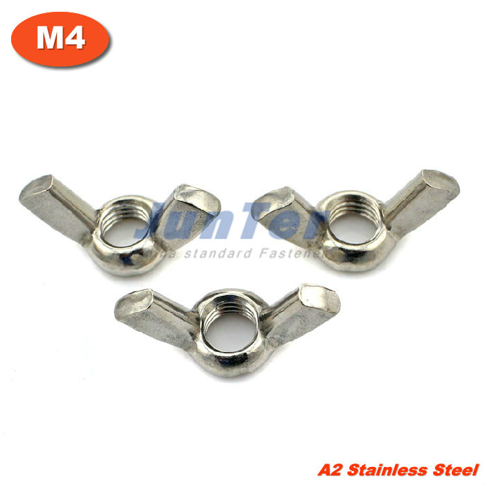 100pcs/lot DIN315 M4 Stainless Steel A2 Wing nuts<br><br>Aliexpress