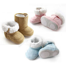 New 2016 Infant Baby Toddler Boys Girl Warm Winter Antiskid Snow Boots Shoes Blue/Pink/Khaki Size M-XXL First Walkers Cheap Z1(China (Mainland))