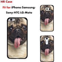 Pug Puppy Dog Happy Phone Cases Cover iPhone 5 5s 5c 6s 6plus Samsung S3 S4 S5 S6 mini S7 Sony X XA Z5 Z4 M5 M4 - Fuleadture Official Store store
