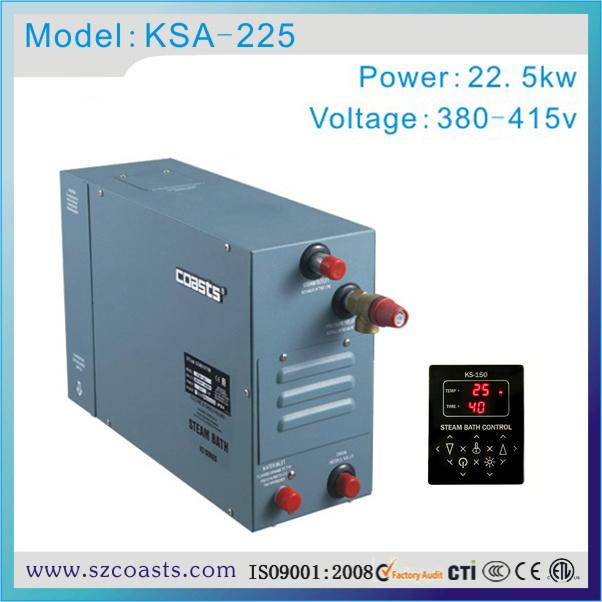New design Coasts steam generator 22.5kw 380v sauna steamer for wet steam bath(China (Mainland))