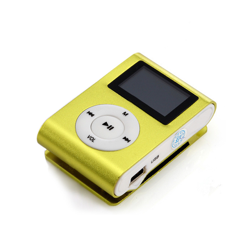 MP3 Player Mini Clip with Screen and Earphones (Red ...