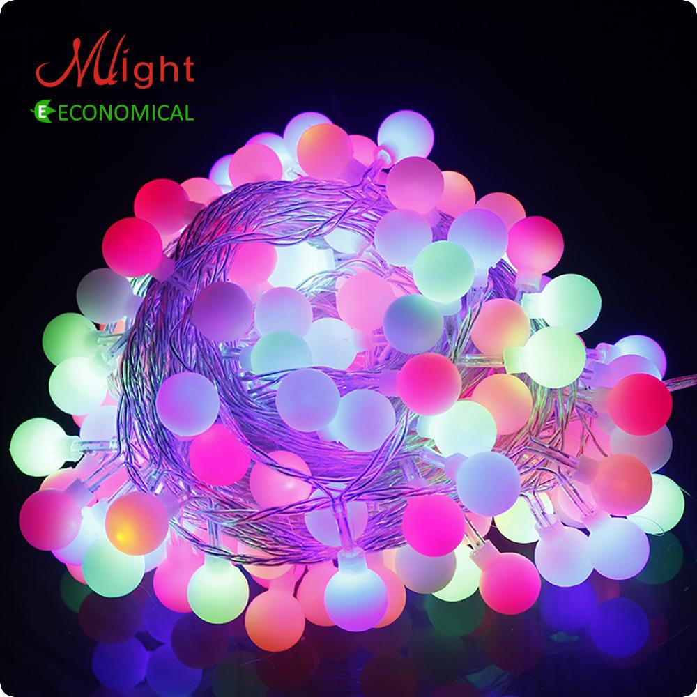 32 LED 5M Bulb LED String Waterproof  AC 220V Holiday Decoration New Year Halloween Chrismas Decorative LED Light Strings<br><br>Aliexpress
