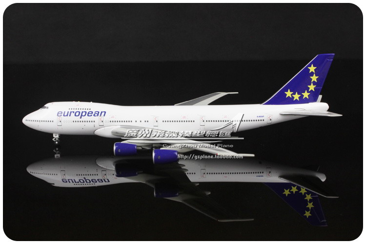 17.5cm 1:400 European Air Airlines BOEING B747 236B G-BGXF Airplane Model Plane Model Souvenir Collections Free Shipping(China (Mainland))