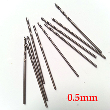 10 Pcs 0.5mm Micro HSS Straight Shank High Speed Steel Mini Twist Drill Bits Electric Drill  Power Tools