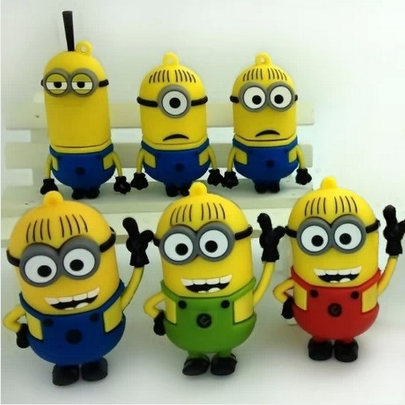 hot sale fashion cartoon Despicable yelllow man Me minions usb flash drive 8gb 16gb 32gb 64gb memory u disk pendrive N1(China (Mainland))