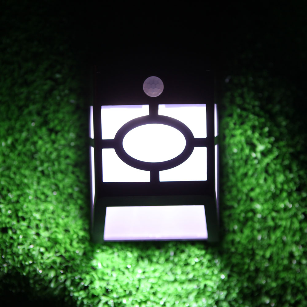 Stylish Solar Panel PIR Motion Light Sensor Wall Light Lamp Rechargeable Mounted for Outdoor Garden Pathway Garage Stairways(China (Mainland))