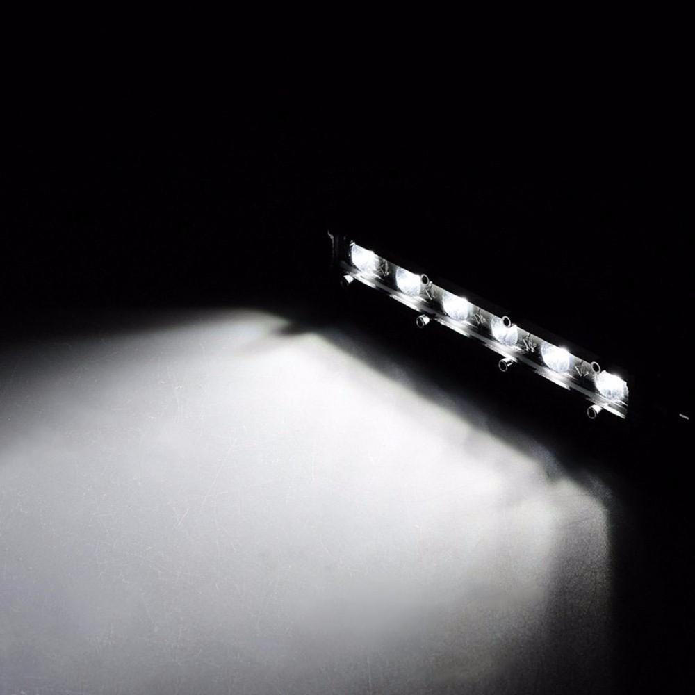Safego Led Lights 4 Inch 18w Work Lite : Safego inch w spot flood single led light bar offroad