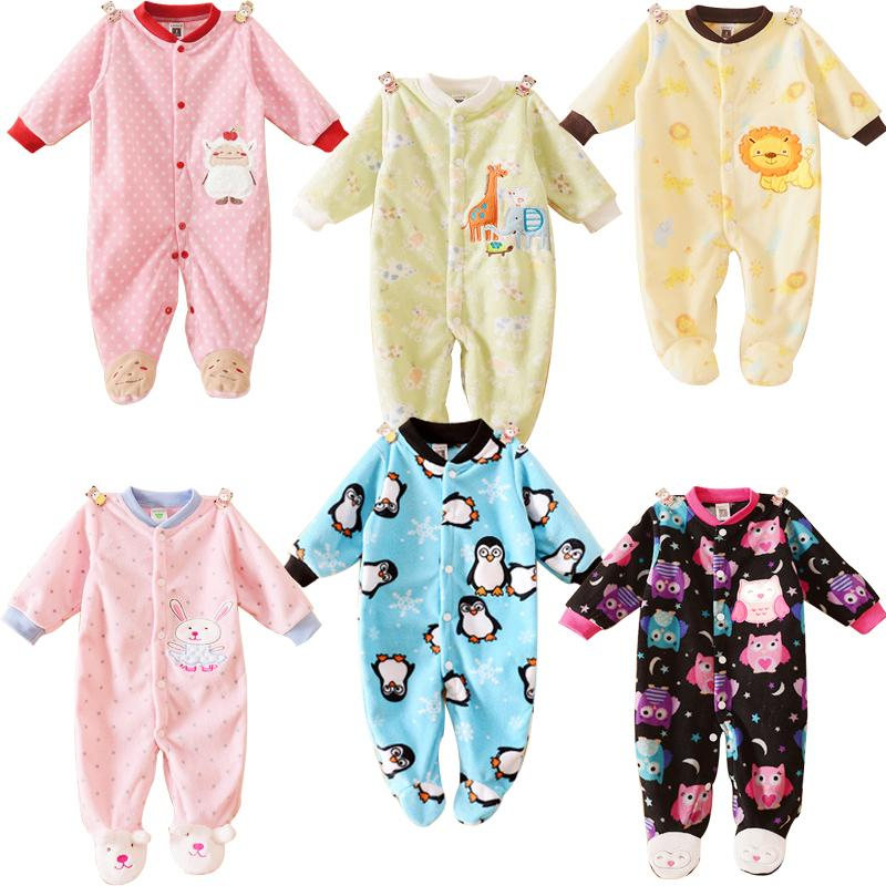 Unisex Carters Baby Clothing Long Sleeves Fleece Infant Coveralls Newborn Boy Girl Clothes Baby Rompers Overalls For Toddlers(China (Mainland))
