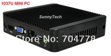 Desktop Intel MINI PC CPU 1037U Dual-Core Micro PC Service Embedded Computer Linux Windows8 OS Barebone System Computer(China (Mainland))
