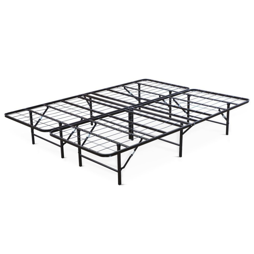 Langria 14-Inch Folding Design Metal Bed Queen Size Modern and Brief Metal Bed FramesDuty Heavy High Frames Mattress Foundation(China (Mainland))