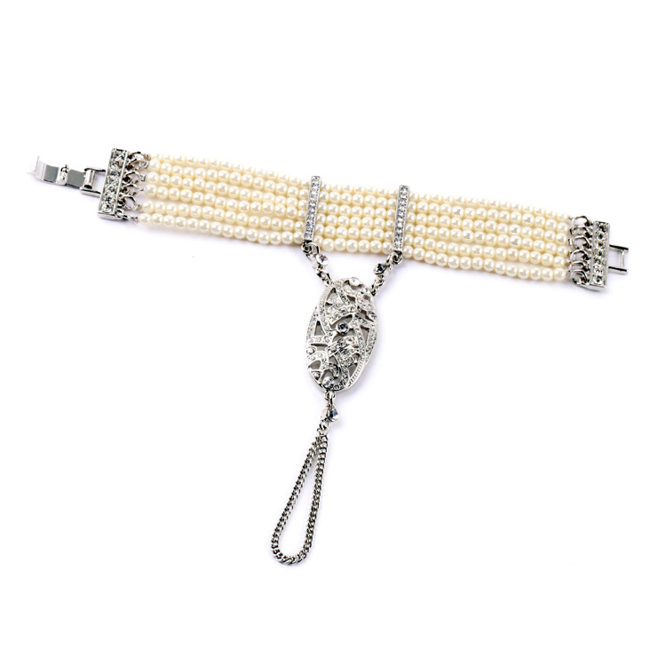 Wome Africa Pop Multi Layer Beads Chain Bracelets & Bangles Banquet Hand Jewelry 2015 New Hot Pearls Bracelets for Women(China (Mainland))