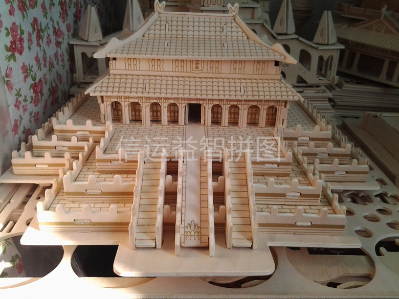 Diy assembled wooden model of the puzzle 3d puzzle model(China (Mainland))