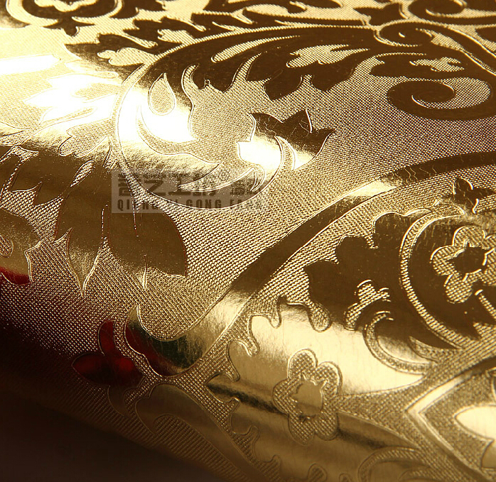 Buy european luxury gold foil wallpaper for Bedroom wallpaper for sale