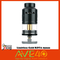 100 Original Limitless Gold RDTA 25mm Electronic Cigarette 4 75ml Juice Capacity Adjustable Airflow Control VS