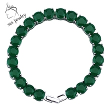 Vintage Green Noble Malaysia Jade Bracelets Top Quality Platinum Plated Chain Bracelets & Bangles Fine Jewelry for Women SL014(China (Mainland))