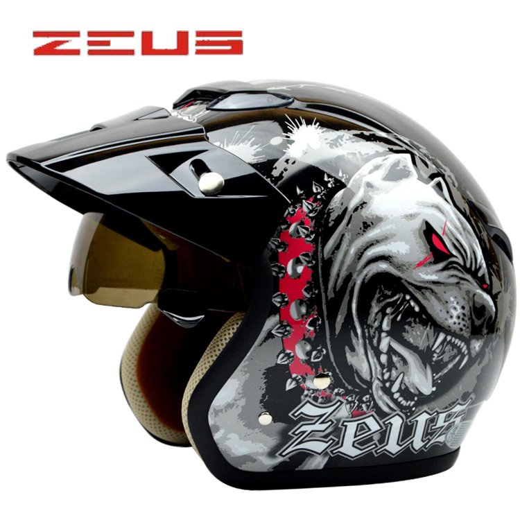 Фотография New arrival Fashion for halley ZEUS motorcycle helmet vintage scooter helmet,retro open face helmet,3/4 moto casco DOT approved