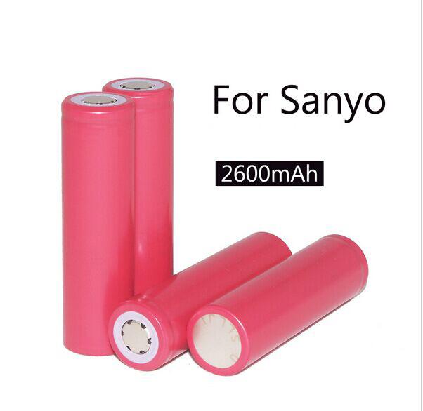 4PCS/lot Sanyo 18650 2600mAh Li-ion rechargeable battery Free Shipping<br><br>Aliexpress