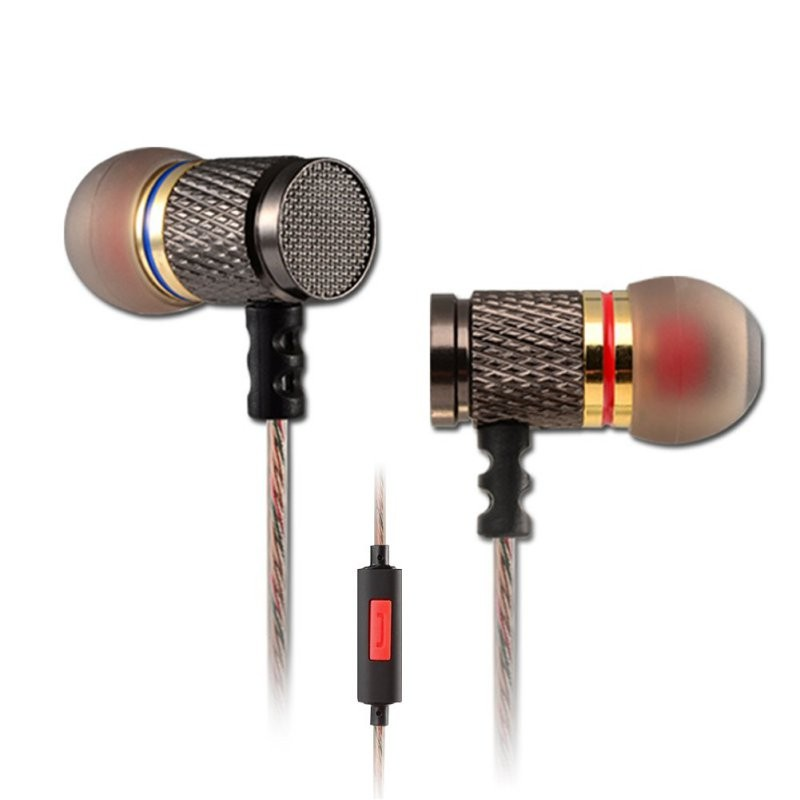 Line Type KZ In-Ear Wired Stereo Earphones Sets With Clear Voice Noise Cancelling Funtions For Mobile Phone For MP3
