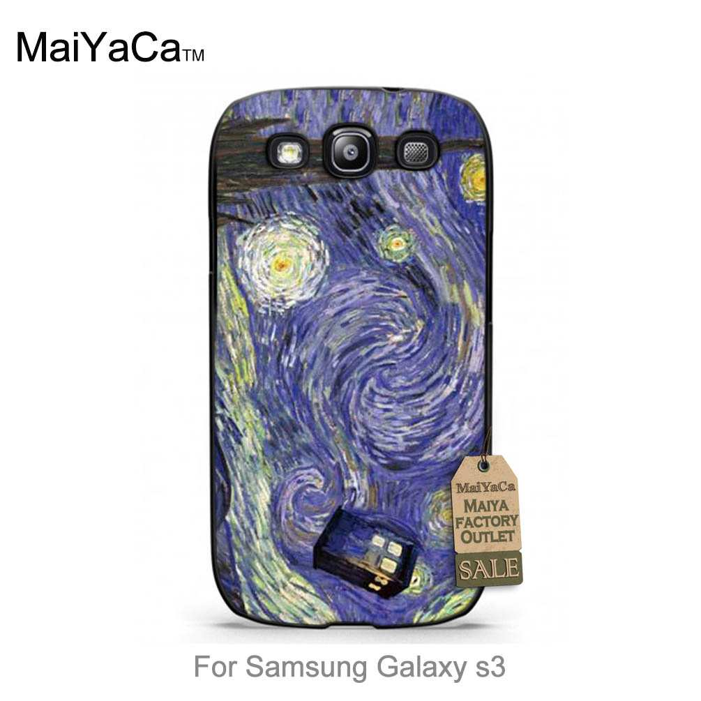 Abstractionism Vincent Van Gogh Starry Sky Oil Painting 2016 New Luxury fashion cell phone case For case GALAXY s3 i9300(China (Mainland))