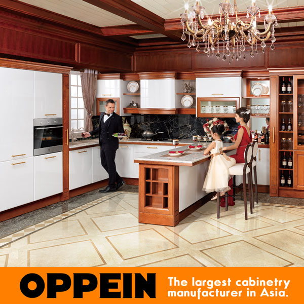 New Modern Design Households Solid Wood Kitchen Item OP15-056(China (Mainland))