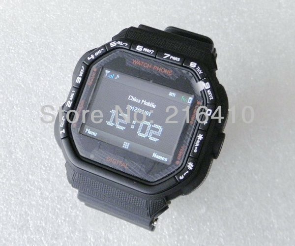 BLACK UNLOCKED QUAD BAND WATCH CELL PHONE CAMERA MP3 watch mobile phone DVR GD93