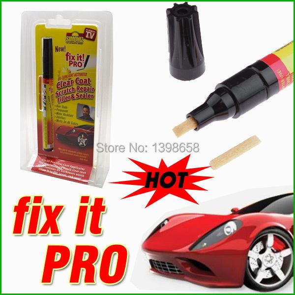 Note Without Original box! Whole sales 100pcs/lot Fix It Pro Clear Car Scratch Repair Remover Pen Simoniz Clear Coat Applicator(China (Mainland))