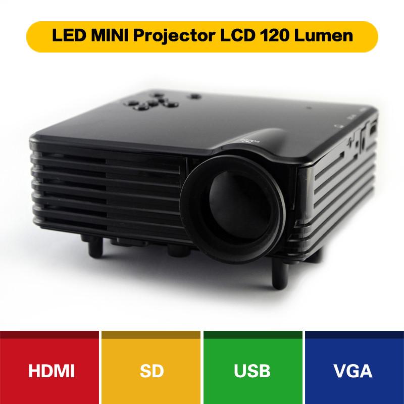 Projector portable mileagea bl 80 mini led home theater for Portable projector with usb port
