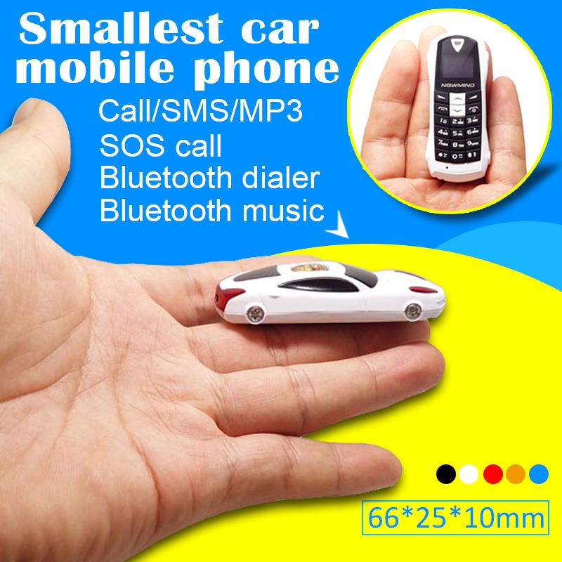 English,Russian,French,Spanish menu Qual-band Smallest mini Car model earphone phone handset bluetooth dialer MP3 P097(China (Mainland))