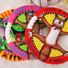 צעצועים לחיות מחמד פריסבי קריקטורה חתולים שמנים שן טוחנת ניקוי כלב צעצועים לחיות מחמד צעצועי חתול צעצועי UFO 3 צבע(China (Mainland))
