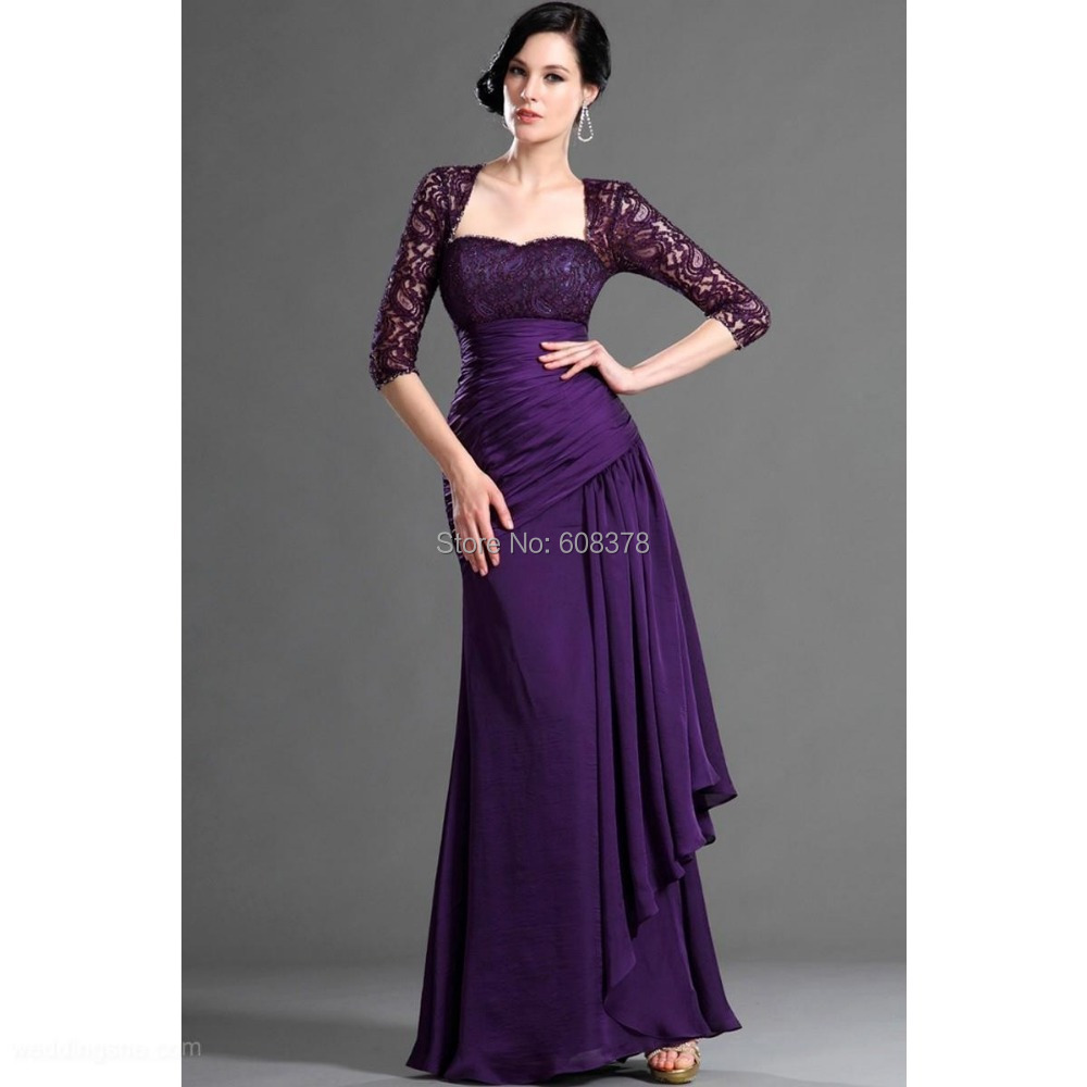 2015 free shipping sexy strapless beaded lace purple for Dresses for wedding mother of bride