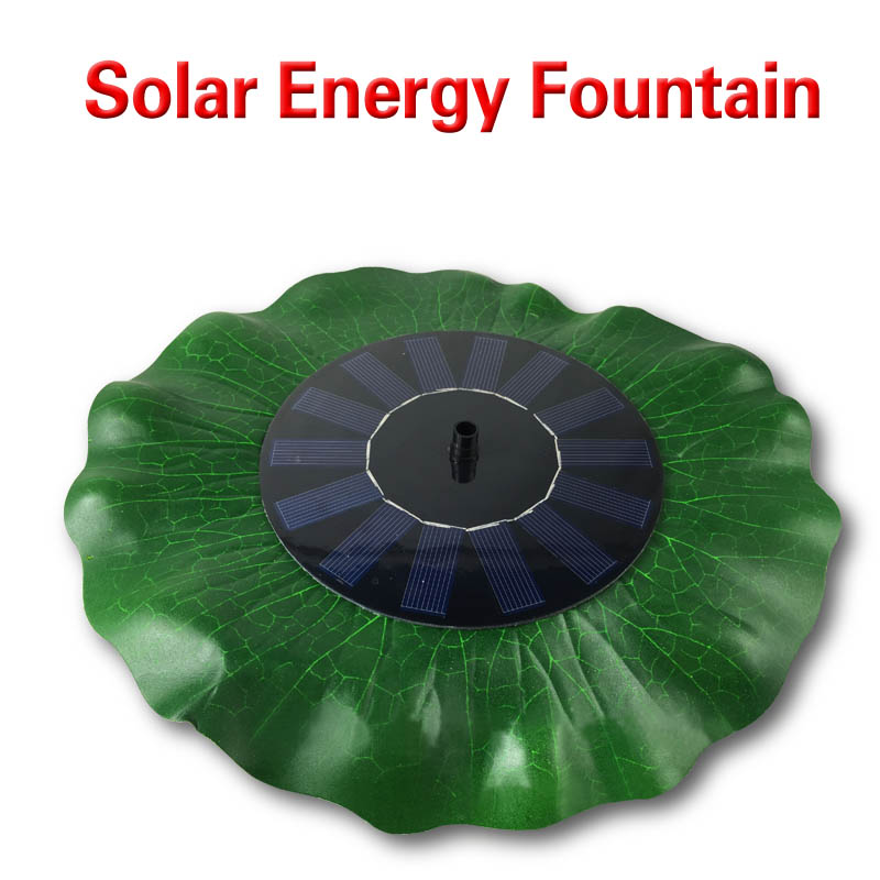 Free shipping Floating Solar Panel Powered Fountain Pond Water Feature Cascade Garden Pool Kit Wholesale price 1 pcs(China (Mainland))