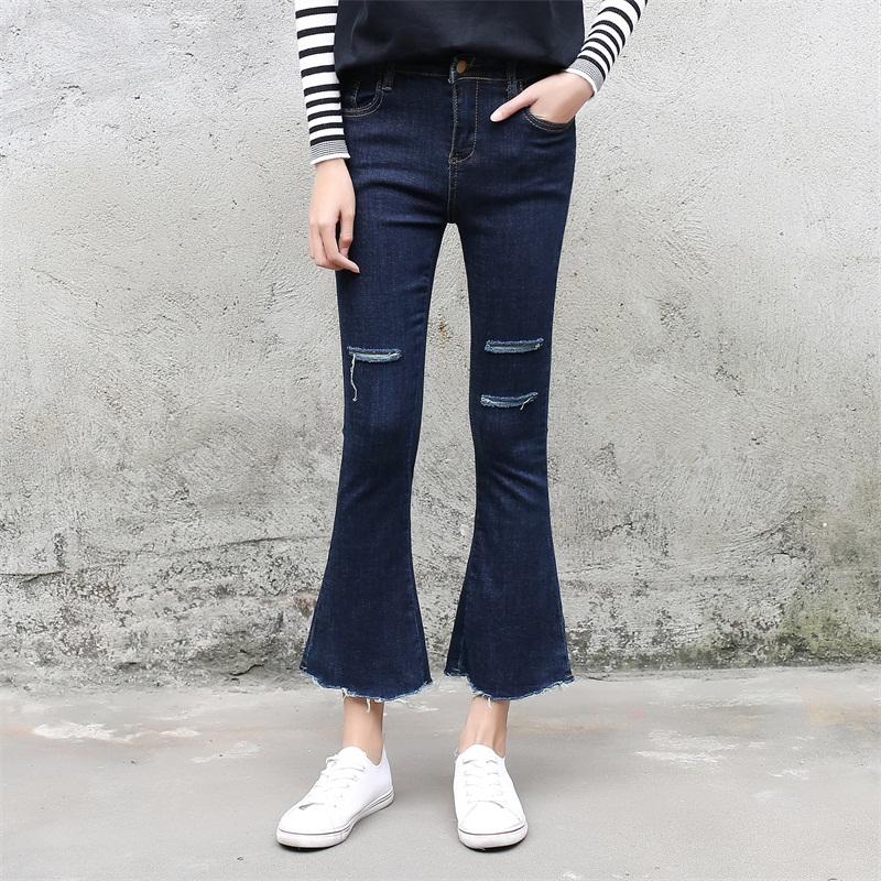 Ripped Flare Jeans - Xtellar Jeans