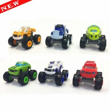 Blaze Monster Machines Toys Vehicle Car Transformation figure 6pcs/set With Original Box Best Gifts For Kids(China (Mainland))