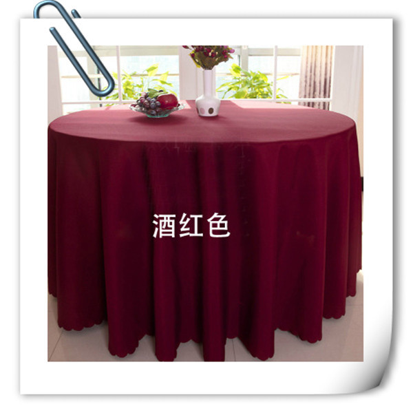 Big Discount !! 20 pieces 70 '' round polyester burgundy table cloth/table linens for wedding party decoratin Free Shipping(China (Mainland))