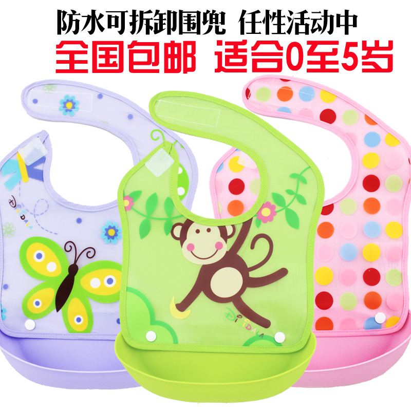 Soft Baby Bibs Waterproof Kids Baby Bibs Solid Silicone Bibs Baby Feeding Apron Cloths