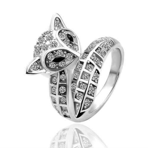 Free Shipping Fashion Jewelry Italy Brand Name Austria Crystal Rotating double loop Rings --18K Gold/Platinum Plated R51(China (Mainland))