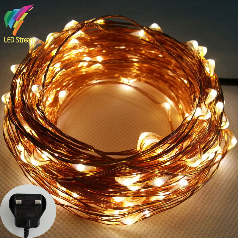 20M 200 Led UK Plug 100-240Vac Copper Wire String Fairy Lights Include UK Adapter For Holiday Christmas Wedding Party(China (Mainland))