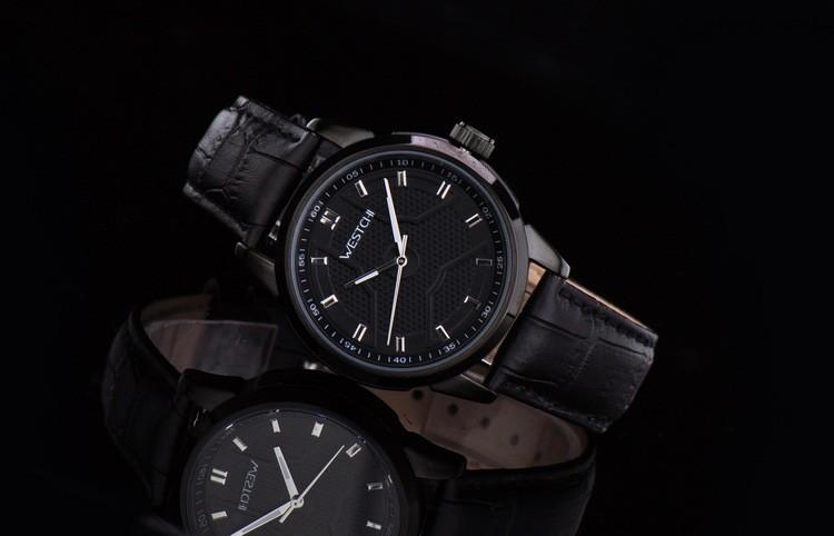 2016 горячие продажа топ luxury brand WHESTCHI кварцевые спортивные оригинальные leaather высокое qulitywaterproof 30 м часы