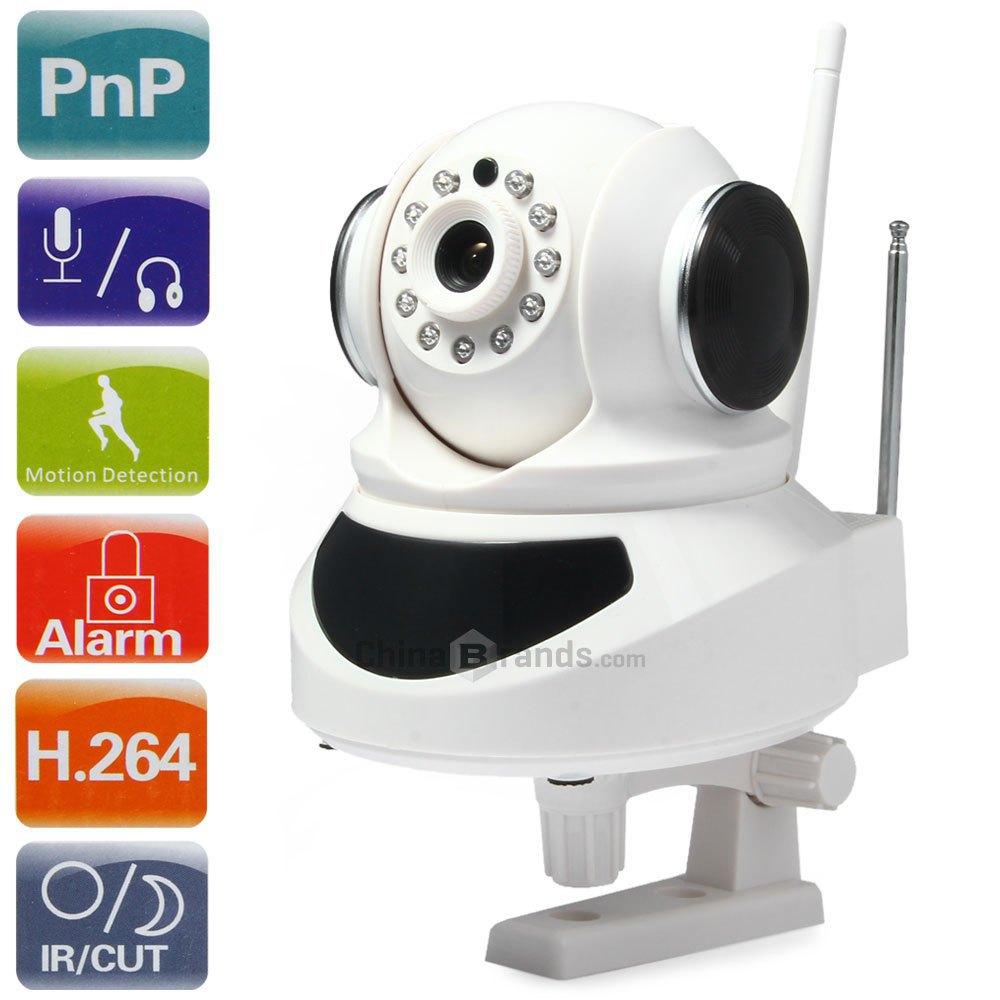 Гаджет  ES-IP805AWKIT 1.0MP H.264 Wireless IP Camera Kit with Alarm Function Night Vision - 100 - 240V None Безопасность и защита