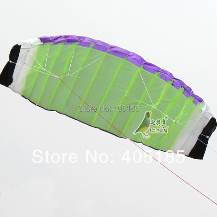 High Quality 2 m Dual Line Stunt Parafoil KITE Power Soft Kite Various Colors Choose Free Shipping(China (Mainland))
