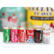 6PCS Mini Coke Miniature Dollhouse Doll Food Drinks Beverage Play Food Rement Size Toy for 1/6 BJD(China (Mainland))