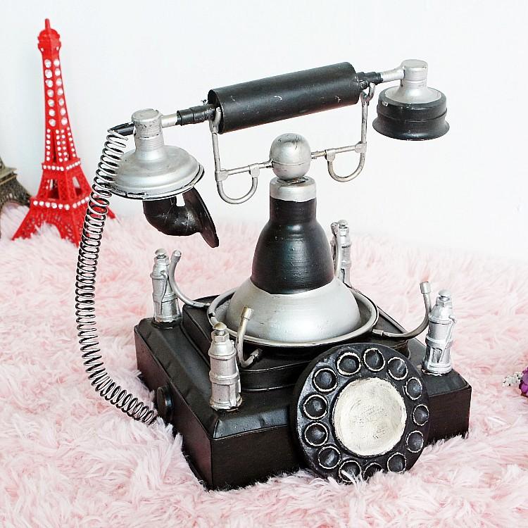 Retro phone model model metal crafts handmade home decorative items Cafe Bar(China (Mainland))