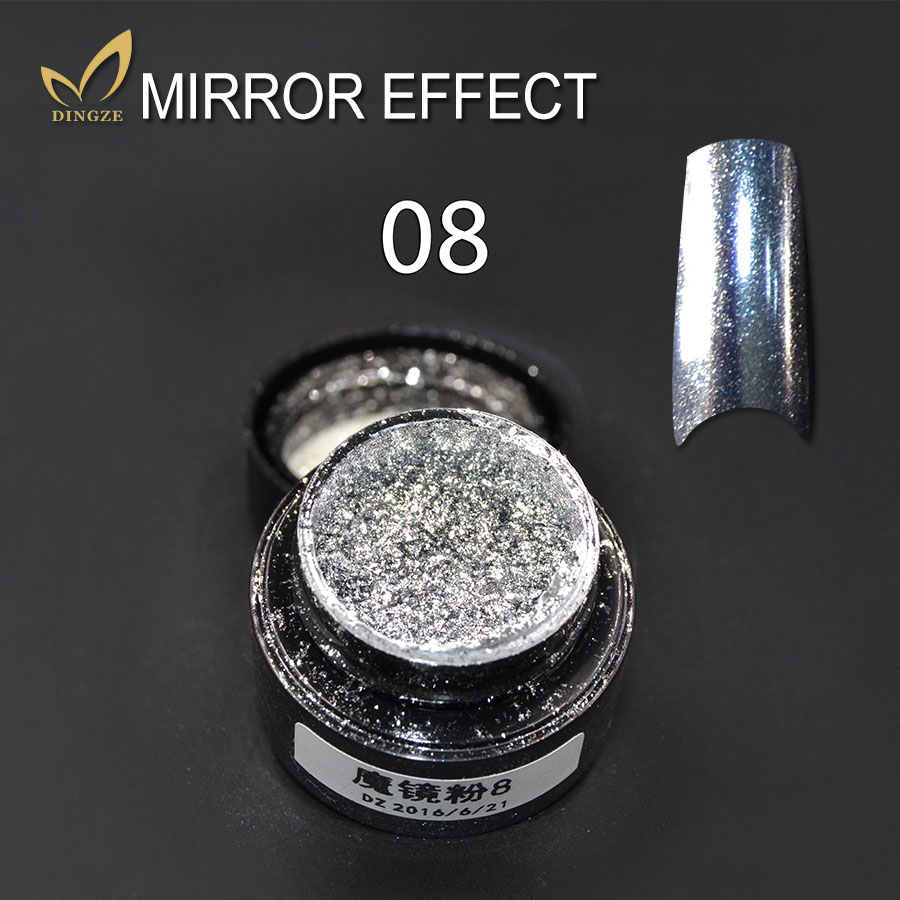 New Arrival Promotion Mirror Glitter Powder for Nails Shinning Chameleon Mirror Nails Art Chrome Pigment Glitters Acrylic Powder(China (Mainland))