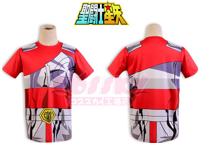 Anime 3D Sublimation!Saint Seiya Bronze/Gold Myth Cloth print Cosplay t-shirt Summer tshirt in stock free shipping 2016(China (Mainland))