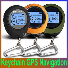 Big discount 2014 New Mini Handheld Keychain GPS Navigation USB Rechargeable For Outdoor Sport Travel, Free Shipping(China (Mainland))