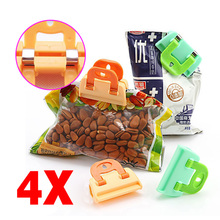 Buy 4PCS Portable ABS Practical Food Sealing Strong Clamp Clip Powder Food Package Bag Clip TB Sale for $1.42 in AliExpress store