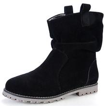 Para mujer Botas de Nieve Zapatos de Moda Faux Suede Womens Tobillo Patea Los Zapatos 2016 de la Nueva Llegada Zapatos de Las Mujeres Calientes Con la Piel(China (Mainland))