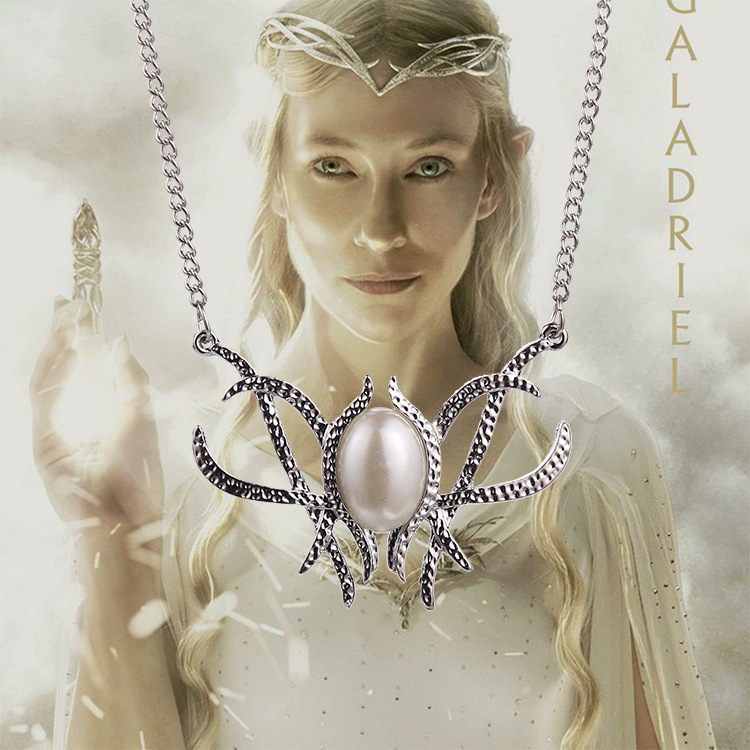 2015 New Hot Movie Jewelry The Hobbit Galadriel Fairy Queen Necklace Pendant Chain
