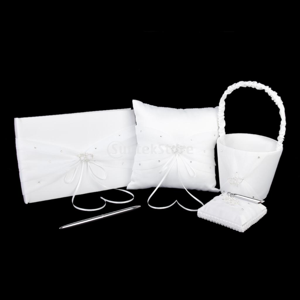 New-Arrivals-2015-White-Satin-Rhinestone-Ring-Pillow ...